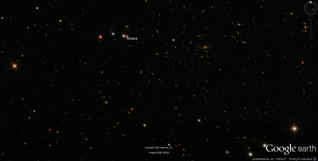 il cielo sul ghana da google earth