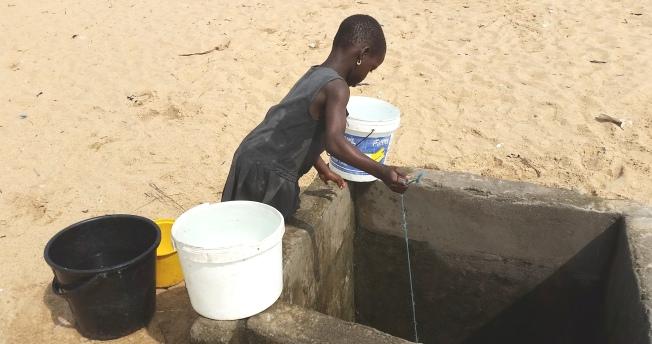 angela fetching water