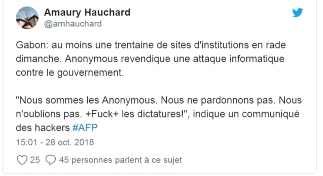 Gabon attaques informatiques contre les sites officiels Africanews